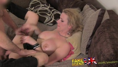 Fakeagentuk Messy Steaming European Nymph In Anal Invasion Casting
