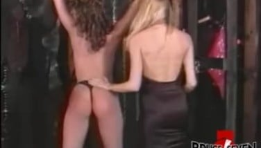 Dyke Female Dominance Slaps And Whips Her Confined Submissive