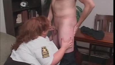 Cock Deepthroating Plumper Security Guard