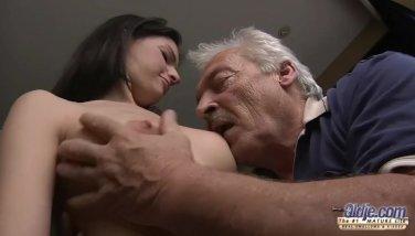 75 Yo Grandpa Pulverizes Youthful Sewer Dame