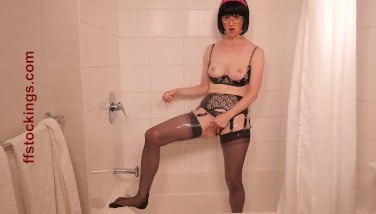 Ffstockings  Drenched Soapy And Witness Through