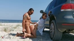 Fledgling Duo Have Super Hot Hook-up On The Beach . Wetkelly