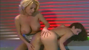 Lesbian Mummies Taunt In Bare Pantyhose