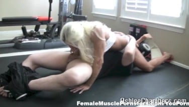 Ashlee Chambers In Tap Out Deep-throat Job