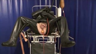 Spandex Rubber Marionette  Catheter Urine Inhaler Breathplay Enema With His Pee