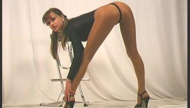 Flexible Nylon Posing With Carmen