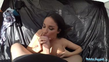 Public Agent Anissa Kate Is A Giant Titted Adultery Wifey Banged In Tent