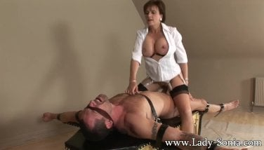 Girl Sonia Trussed Down And Plowed Firm
