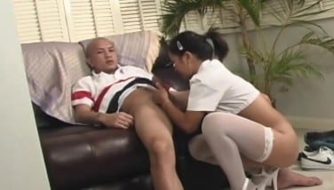 Tiny Oriental Gets Finger-tickled And Give A Blowjob