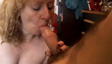 Sexy Ash-blonde Mummy Gives A Superb Blowjob