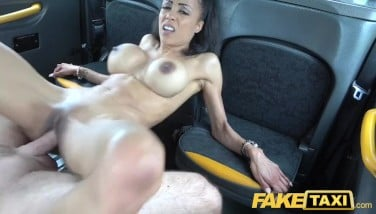 Fake Taxi Smallish Black With Gigantic Bra-stuffers Works Drives Trouser Snake For Cum